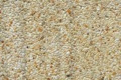 Стена гравия для предпосылки или фона текстуры Стоковое Изображение
