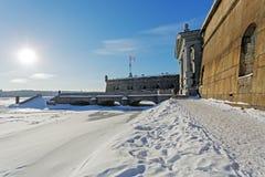 Стена гранита крепости Питера и Пола Стоковое Изображение