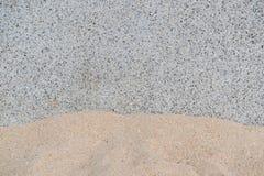 Стена гранита с песком Стоковые Изображения