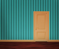 стена двери ретро Стоковая Фотография RF