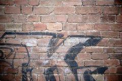 Стена деревенского кирпича каменная Стоковое Фото