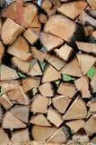 Стена деревянных частей, для места огня Стоковые Изображения