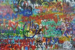 Стена Джон Леннон, Прага, чехия стоковое изображение rf