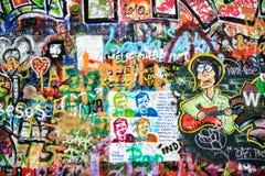 Стена Джон Леннон, Прага, чехия Стоковое Изображение