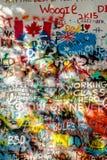 Стена Джон Леннон, чехия Стоковая Фотография RF