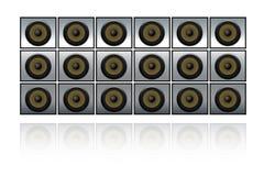 стена дикторов Стоковая Фотография