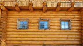 стена дома деревянная Стоковое Изображение