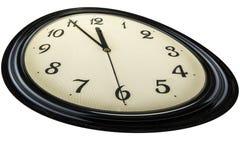стена дома украшения часов белизна времени предмета предпосылки изолированная принципиальной схемой 5 до 12, оно ` s почти поздно Стоковое фото RF