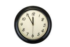 стена дома украшения часов белизна времени предмета предпосылки изолированная принципиальной схемой 5 до 12, оно ` s почти поздно Стоковые Изображения RF