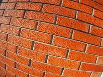 Стена декоративных красных кирпичей закрывает вверх Стоковые Изображения RF