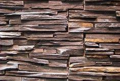 Стена естественного коричневого камня Стоковое Изображение