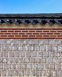 Стена детали - дворец Gyeongbokgung Стоковое Изображение RF