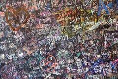 Стена детали влюбленности в Вероне Стоковое Фото