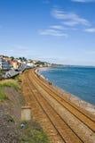 стена железнодорожного моря Девона южная Стоковые Фотографии RF