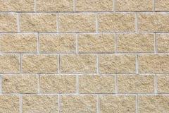 Стена желтых кирпичей декоративного камня окна стены делового центра здания предпосылки Стоковое Изображение RF