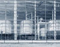 Стена завода на времени дня Стоковые Изображения RF