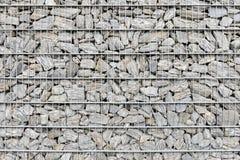 Стена загородки Gabion Стоковое фото RF