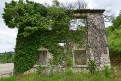 Стена загубленного здания Стоковое фото RF