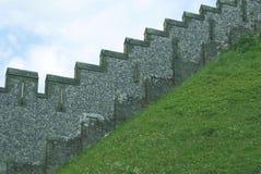 Стена замка Arundel castellated в Англии Стоковая Фотография RF