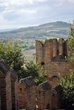 стена замока средневековая Стоковые Изображения RF