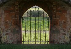 стена замока штанг Стоковое Фото