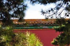 Стена запретного города Пекина Китая стоковая фотография