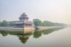 Стена запретного города наружная - Пекин, Китай Стоковая Фотография RF