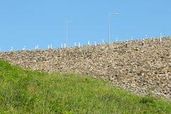 Стена запруды Стоковые Фотографии RF