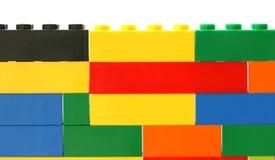 стена игрушки кирпича цветастая Стоковое Изображение