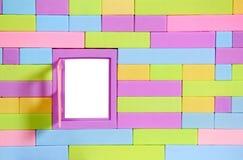 стена игрушки кирпича Стоковое Изображение RF