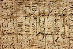 стена иероглифа Стоковое Изображение RF
