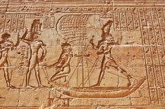 стена иероглифов Египета египетская Стоковые Изображения RF