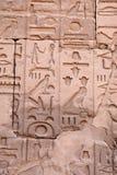 стена иероглифов Стоковая Фотография RF