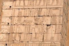 стена иероглифов Стоковое Изображение