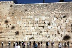 Стена ИЕРУСАЛИМА, ИЗРАИЛЯ голося Стоковая Фотография RF