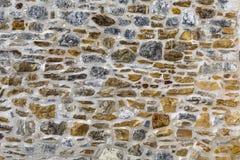 Стена испанской миссии каменная - Сан Антонио, Техас стоковое изображение