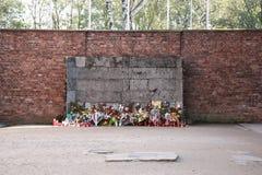 Стена исполнения, Освенцим стоковые изображения rf