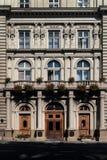 Стена исторического здания в Львове Стоковая Фотография