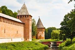 Стена и башни города Стоковые Фото
