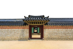Стена и дверь Кореи Стоковые Изображения RF