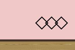 Стена и пол дизайна интерьера с рамками фото Стоковое Фото