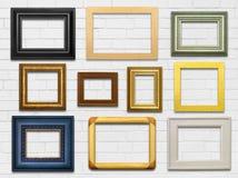 Стена и рамки Стоковые Изображения