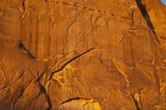 стена каньона золотистая Стоковые Фотографии RF