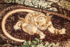 стена картины искусства hanuman Стоковое Фото