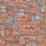 Стена картины красного кирпича безшовной Архитектурноакустическая текстура grunge Стоковое Изображение RF