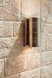 стена картины металла светильника ashlar самомоднейшая стоковое фото