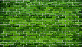 стена кирпича зеленая Стоковое Изображение RF