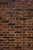 стена кирпича коричневая английская старая рыжеватая Стоковая Фотография