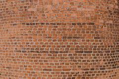 Стена кирпича круглая Справочная информация Основание печной трубы фабрики промышленной Стоковые Изображения