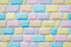 стена кирпича предпосылки цветастая Стоковые Фото